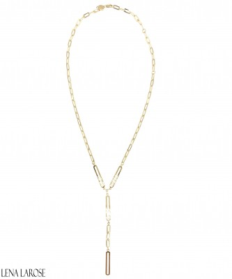 Jennifer Zeuner Flora Lariat Necklace