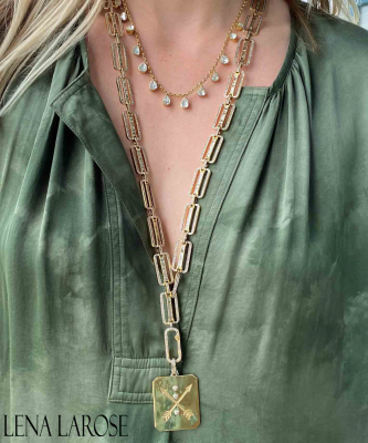 TRUNKSHOW The Woods Fine Jewelry Baguette Chain, 32""